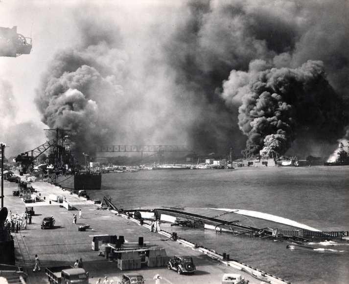 L'attacco dei Giapponesi su Pearl Harbour