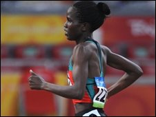 Kenya's Nancy Longat winning 1500m.