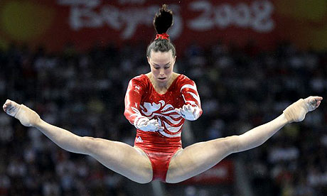 Could you do that?  No.  Could David Beckham?  no.  Could Beth Tweddle earn a percentage point of his income?  No.