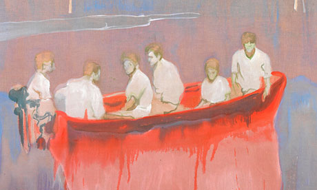 Peter Doig's Figures in Red Boat (detail)