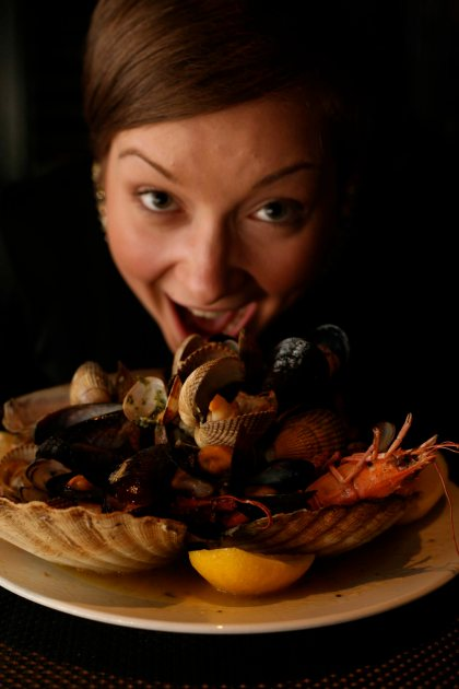 The famous Dakota roast shellfish as modelled by Amy Gorman