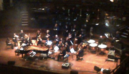 the view from the very, very back row of the upper circle of the Usher hall